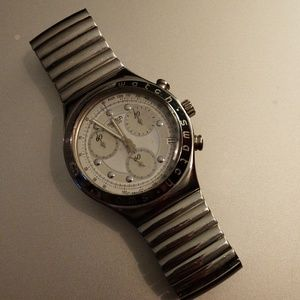 Swatch IRONY Vintage Stainless Steel Chronograph